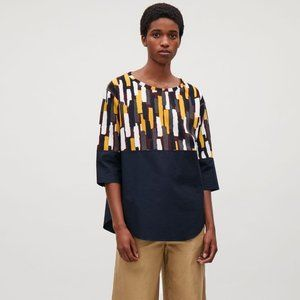 COS Synthetic Jumper with Cotton Shirt Hem